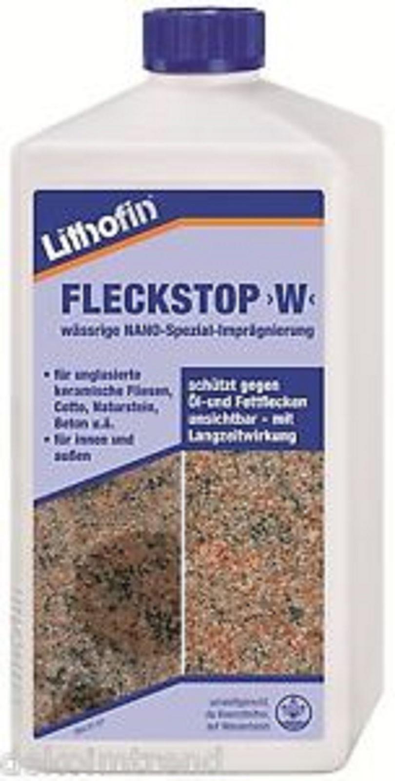 Lithofin Fleckstop W, Imprägnierung, Reiniger, Putzmittel