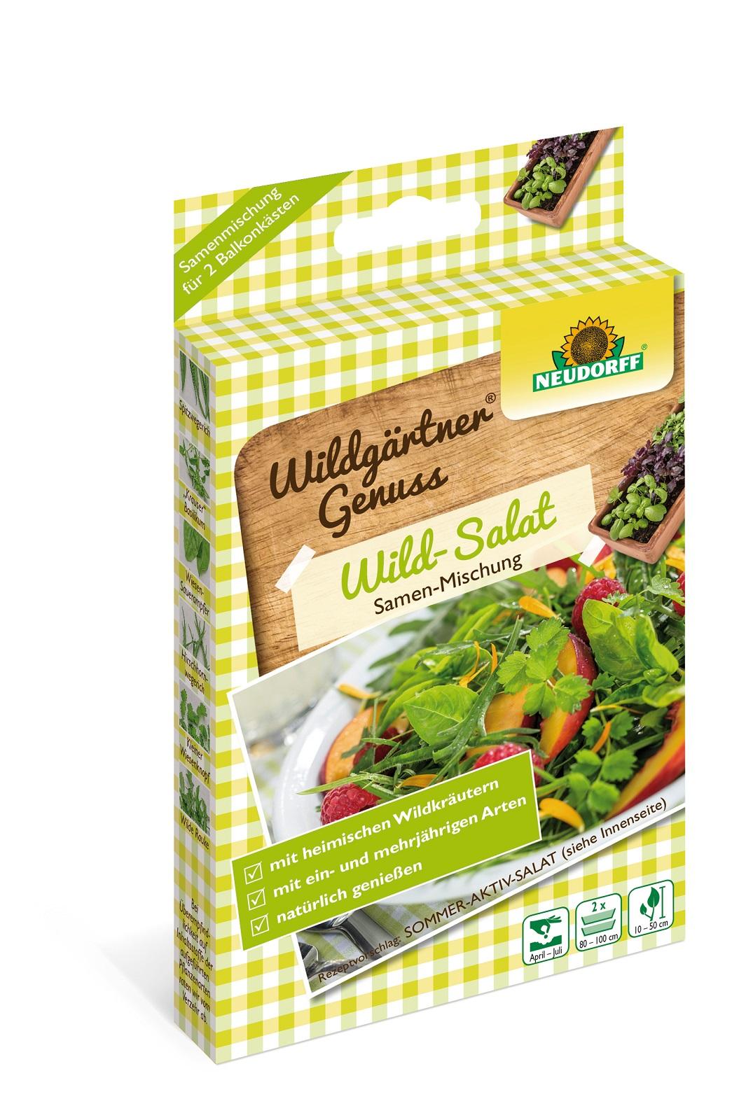 WildgärtnerGenuss Wild Salat 2 x 2 g Samen Mischung