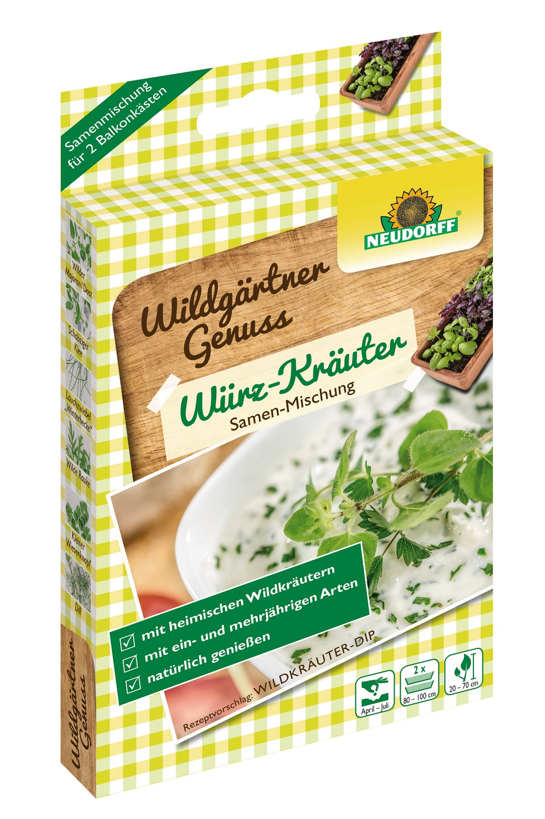 WildgärtnerGenuss Würz Kräuter 2 x 2 g Samen Mischung