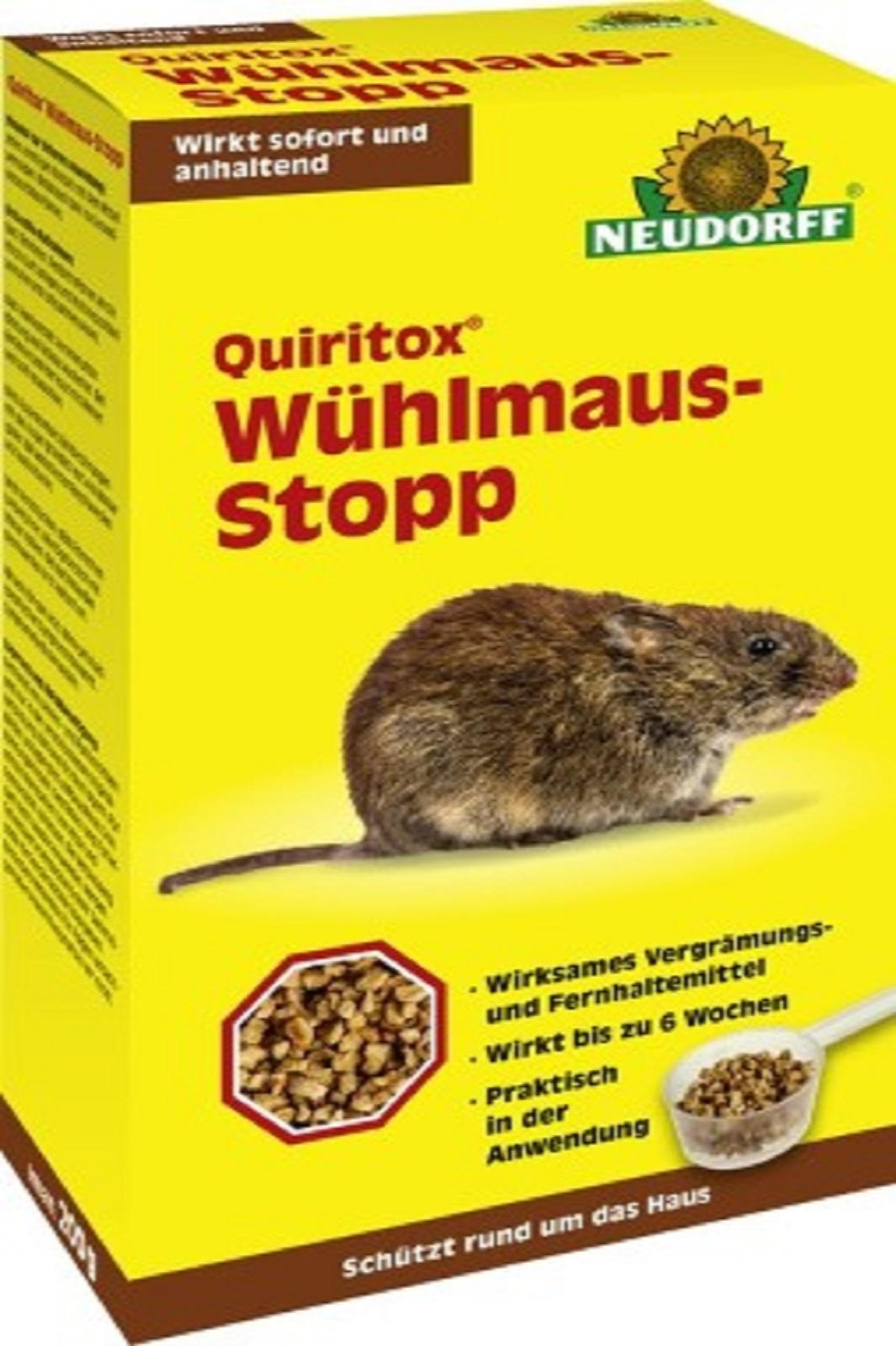 Neudorff  Quiritox Wühlmaus-Stopp Vertreibung von Wühlmäusen 200 g
