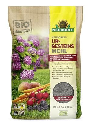 Neudorff  Urgesteinsmehl 20 kg für Rasen Gemüse Zierpflanzen Obstbäume