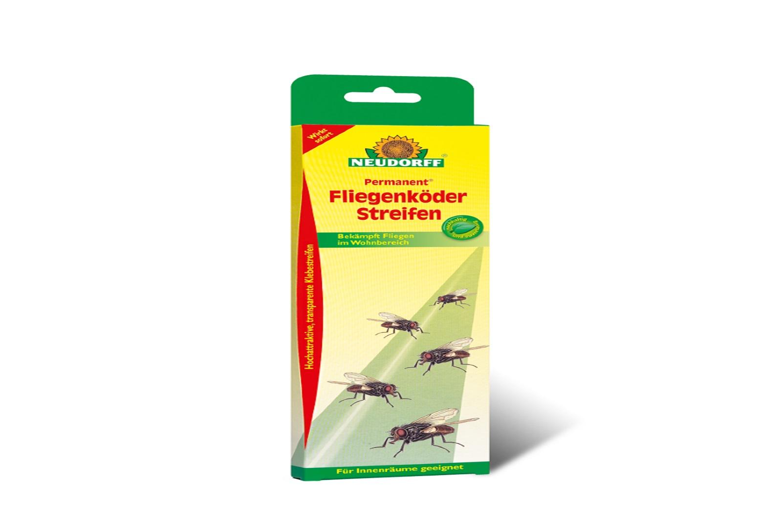 Neudorff  Permanent Fliegenköder Streifen Fliegenfalle  12 Stk in einer Pack