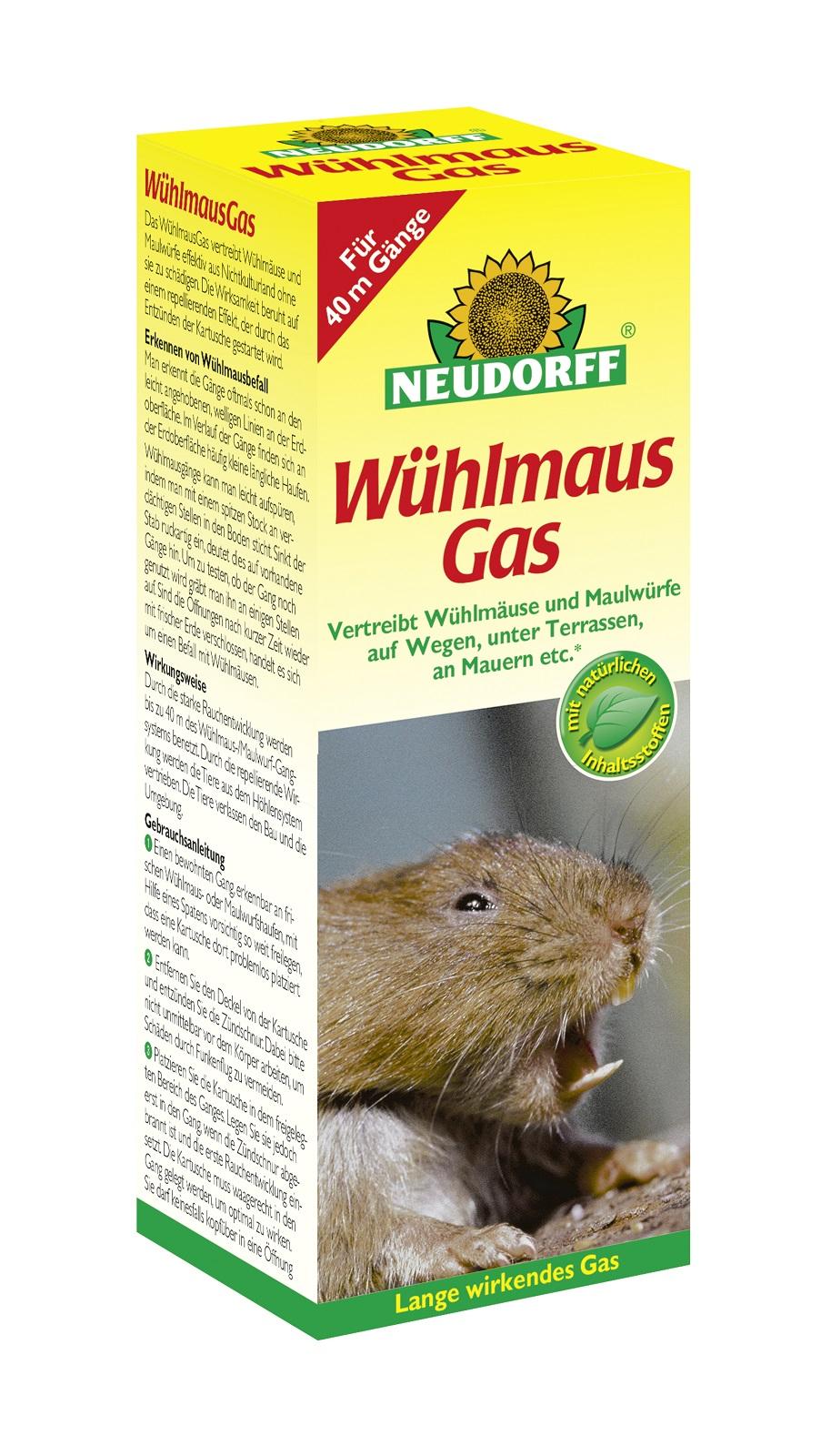 Neudorff Wühlmaus Gas 2 Kartuschen