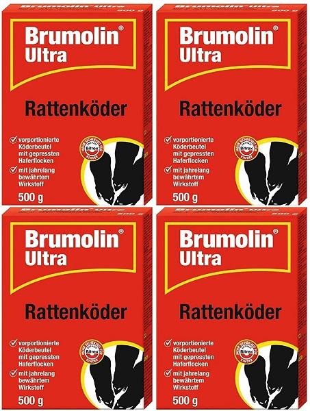 Brumolin Ultra Rattenköder 4 x 500 g