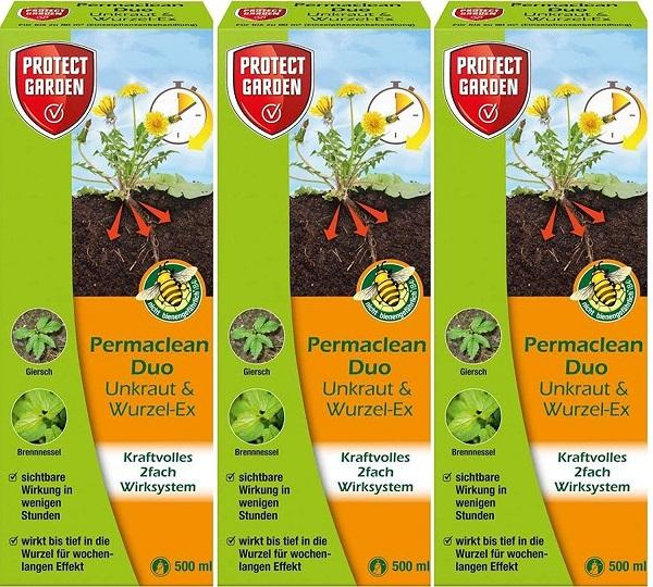 Protect Garden Permaclean Duo Unkraut & Wurzel Ex 3 x 500 ml Unkrautvernichter