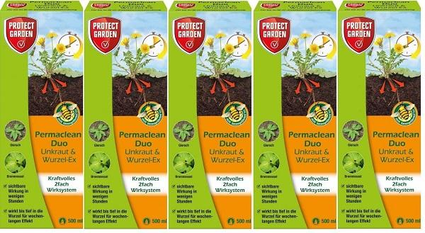 Protect Garden Permaclean Duo Unkraut & Wurzel Ex 5 x 500 ml Unkrautvernichter