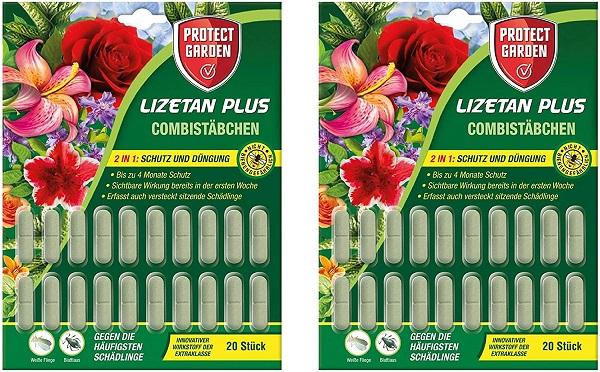 Protect Garden Combistäbchen Lizetan Plus 2 x 20 Stück Schutz und Dünger in einem