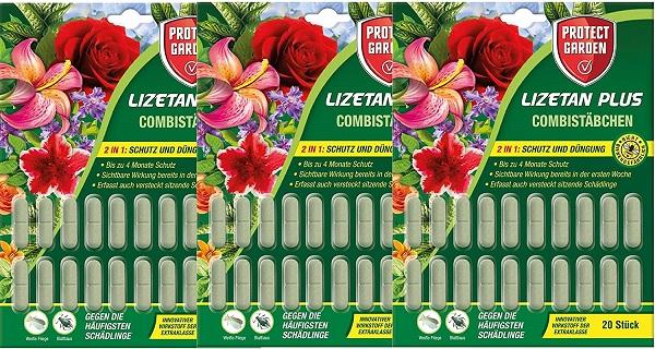 Protect Garden Combistäbchen Lizetan Plus 3 x 20 Stück Schutz und Dünger in einem