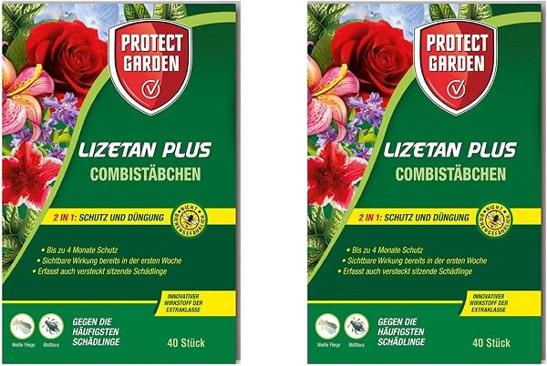 Protect Garden Combistäbchen Lizetan Plus 2 x 40 Stück Dünger und Schutz in einem
