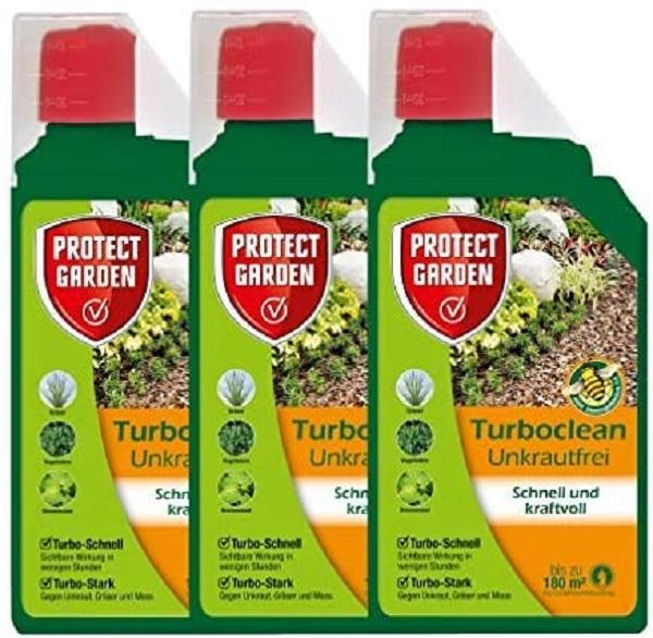 Protect Garden Turboclean Unkrautfrei Konzentrat  3 x 1 Liter