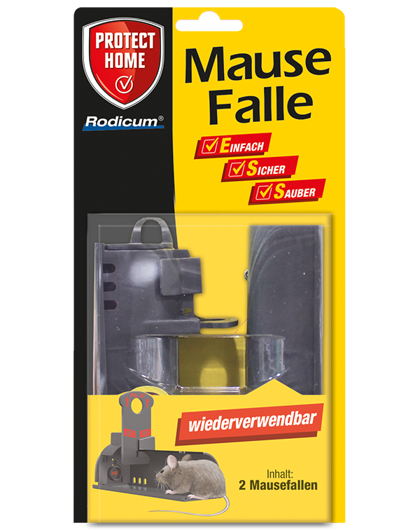 Protect Home  Rodicum Mausefalle 2 Stück wiederverwendbar