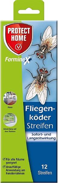 Protect Fliegenköder Streifen 12 Stück Fliegenbekämpfung im Innenraum