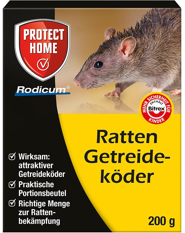 Protect Home  Rodicum Ratten Getreideköder 200 g Rattengift