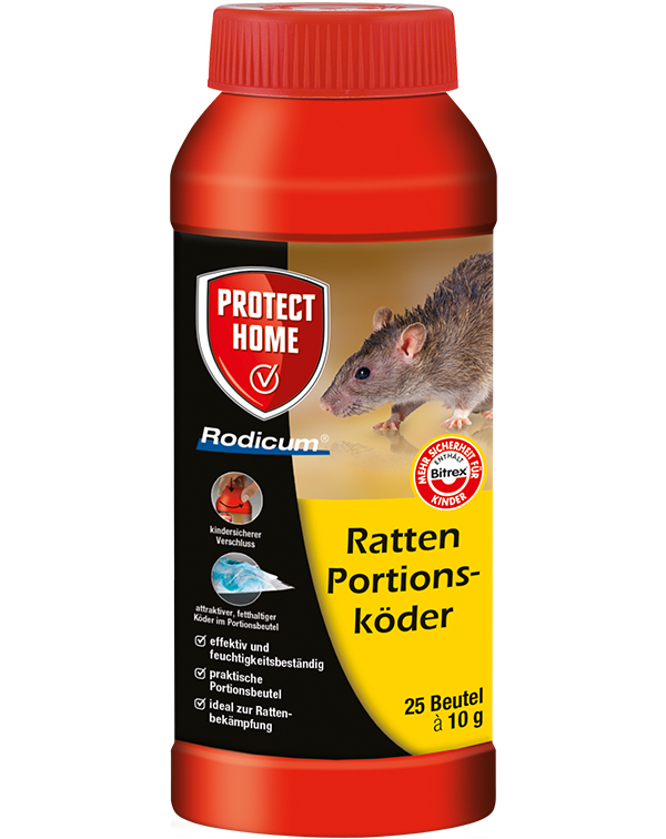 Protect Home  Rodicum Ratten Portionsköder 250 g Rattengift