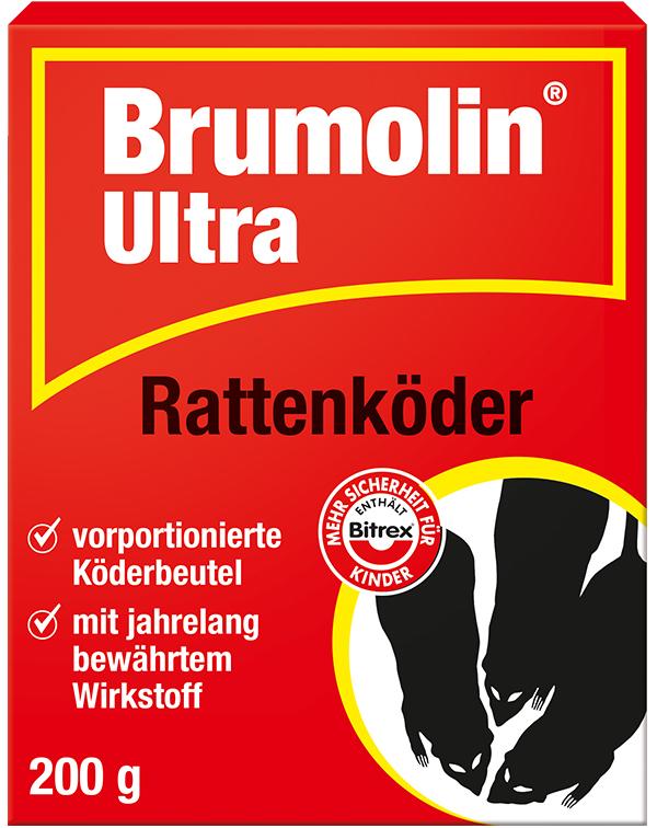 Brumolin Ultra Rattenköder 200 g Ungezieferköder Haushaltsschädlinge