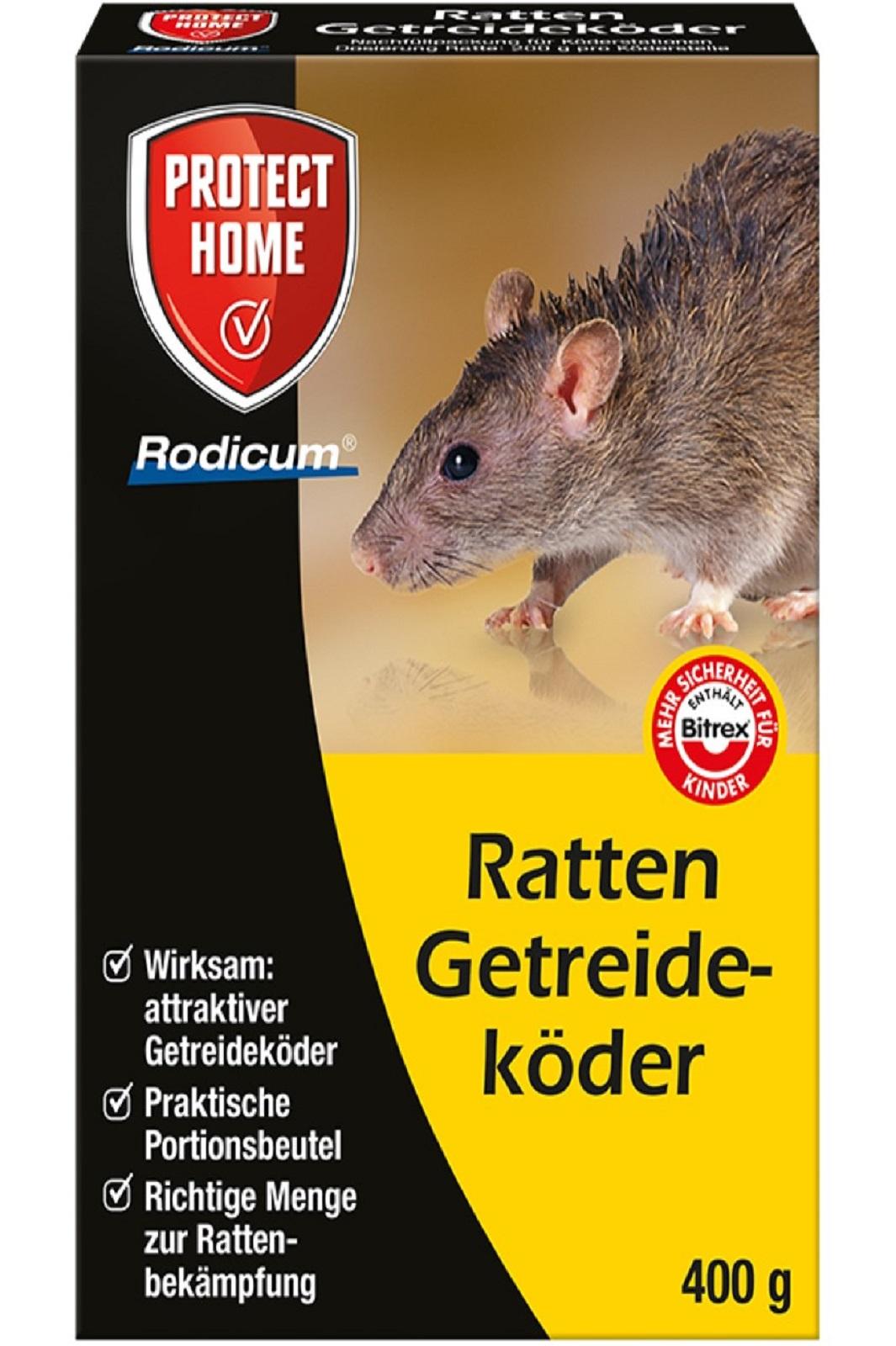 Protect Home  Rodicum Ratten Getreideköder 400 g Rattengift