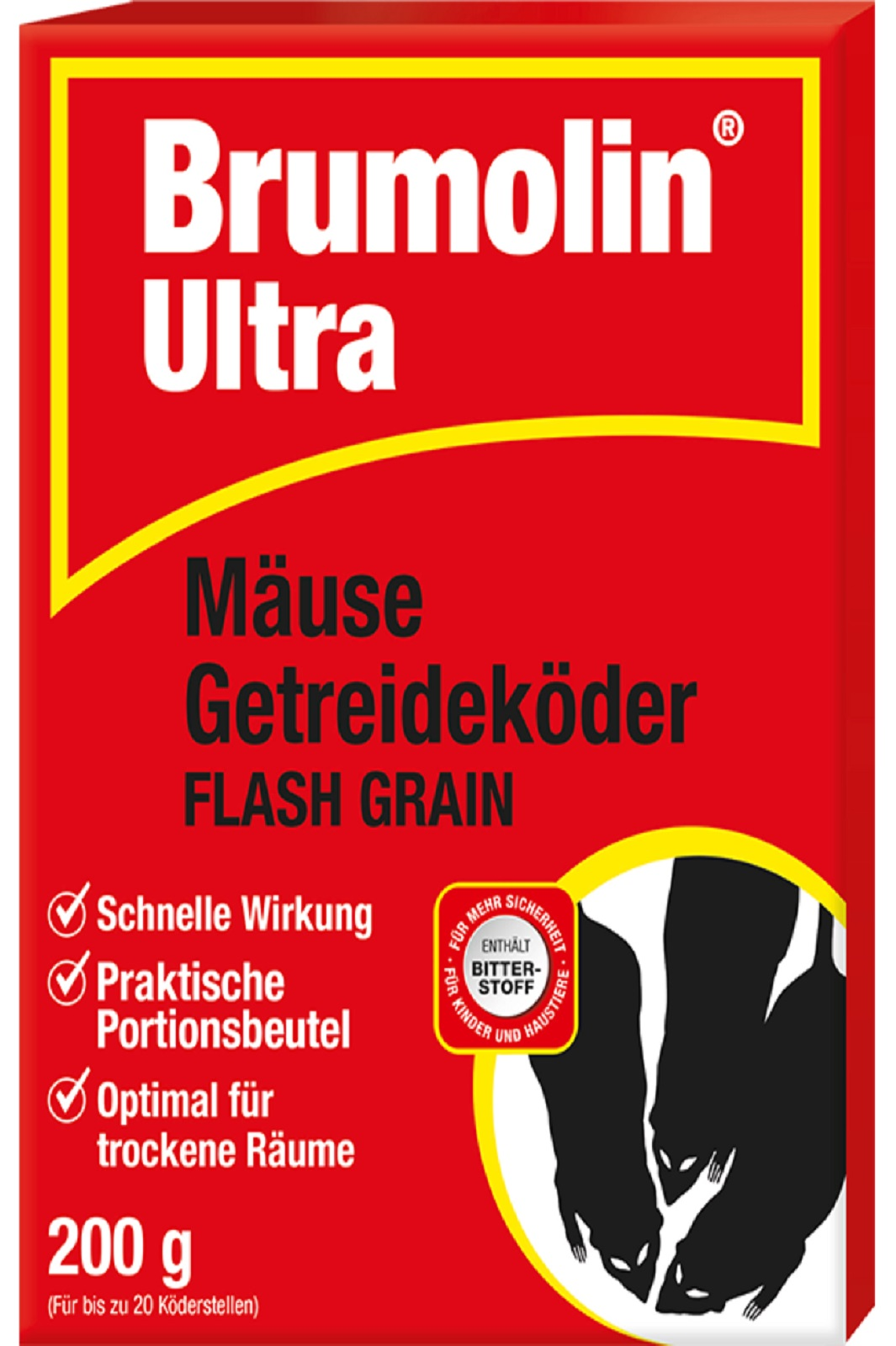 Brumolin Ultra Flash Grain Mäuse Getreideköder 200 g