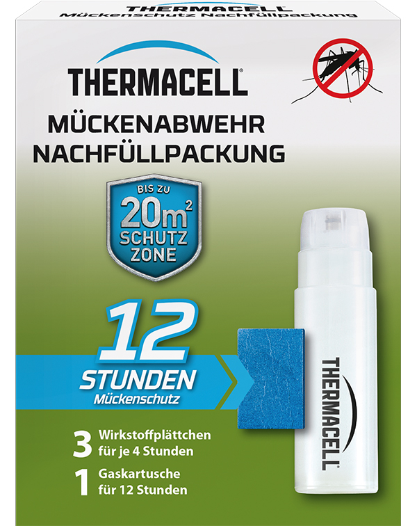 Thermacell Mückenabwehr Mückenschutz für Außen Nachfüllpack 12 Stunden