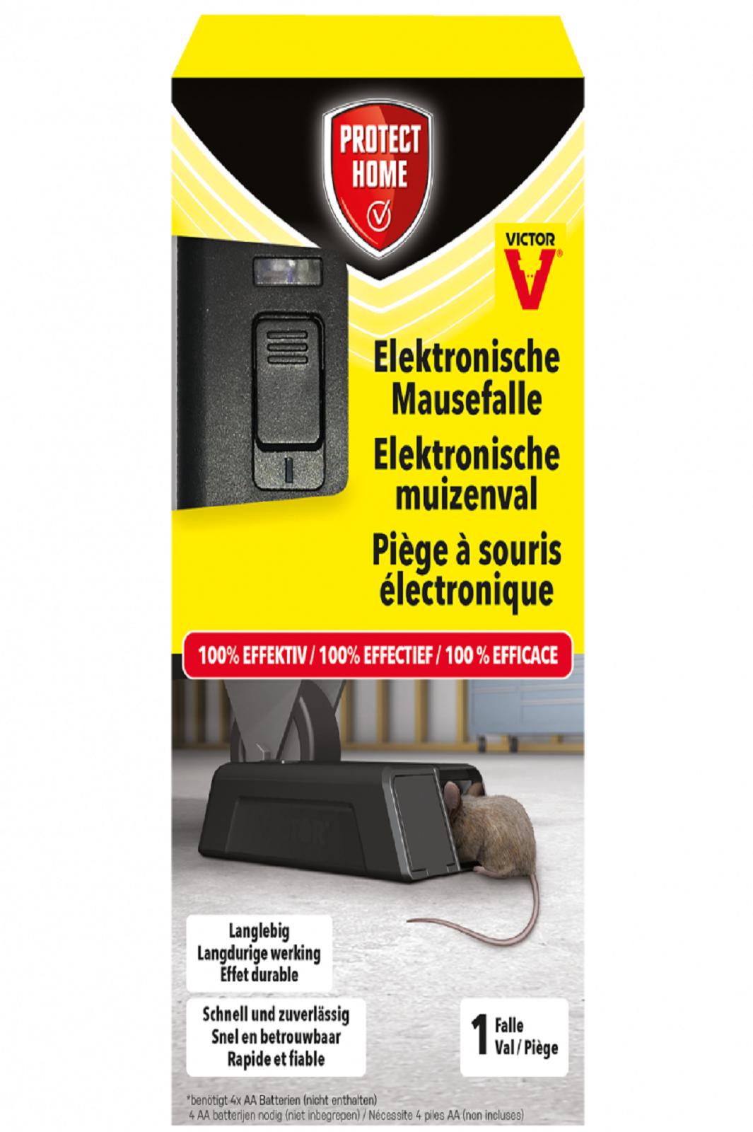 PROTECT HOME Elektronische Mausefalle sauber und sicher gegen Mäuse giftlos