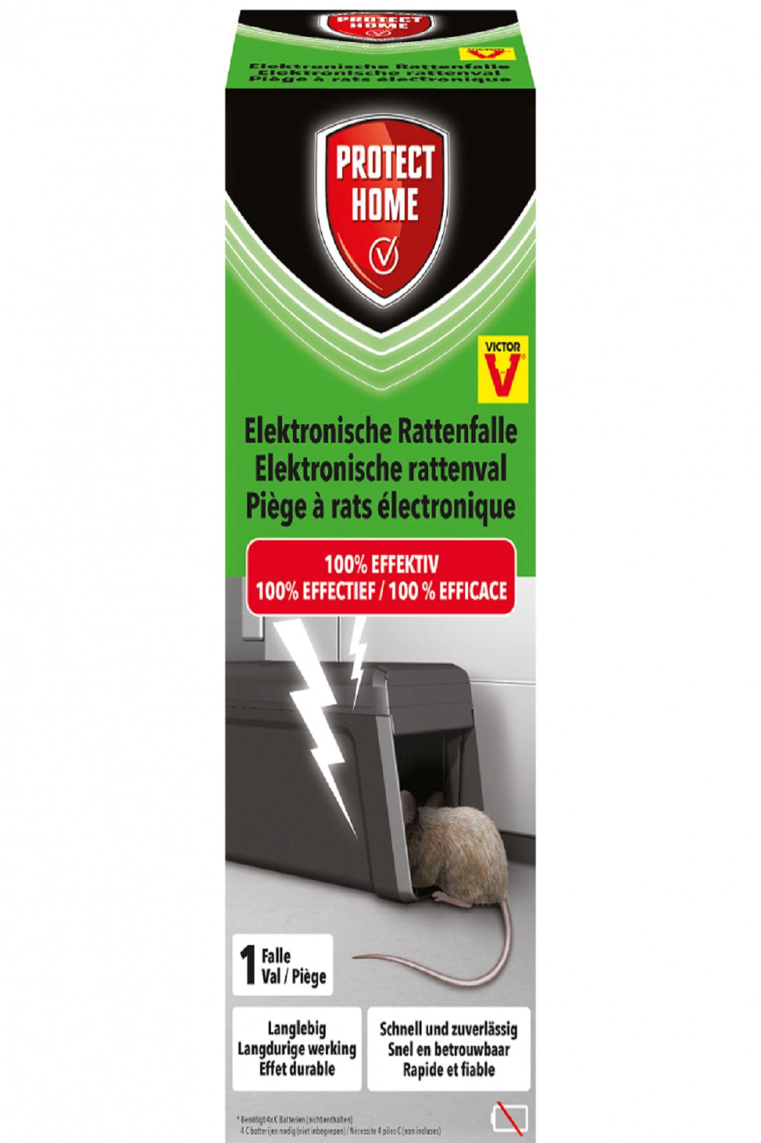 PROTECT HOME Elektronische Rattenfalle sauber und sicher gegen Ratten giftlos