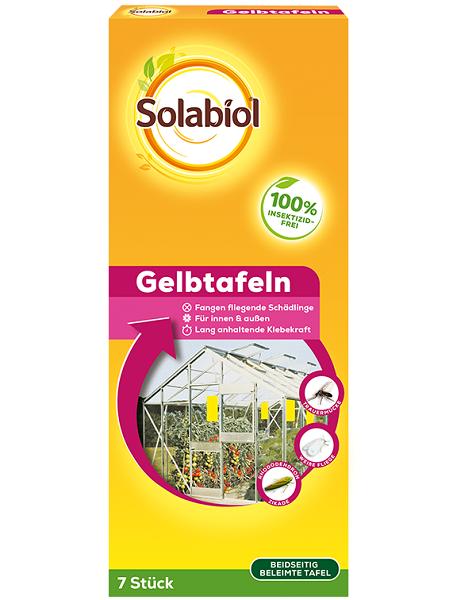 Bayer Solabiol Gelbtafeln 7 Stück Insektenabwehr Spezialleim ohne Insektizid
