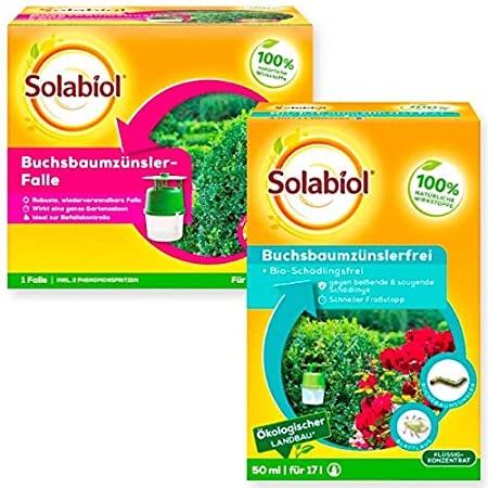 Solabiol Buchsbaumzünslerfalle 1 Stück + 1 Solabiol Buxbaumzünsler Frei 50 ml