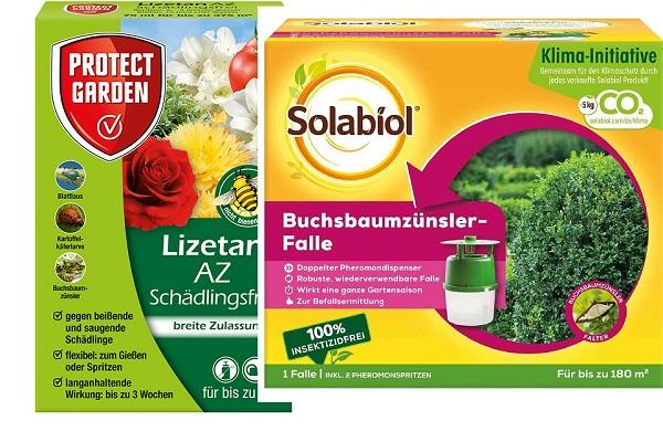Solabiol Buchsbaumzünslerfalle 1 Stück + 1 Protect Garden Schädlingsfrei Lizetan AZ 75 ml