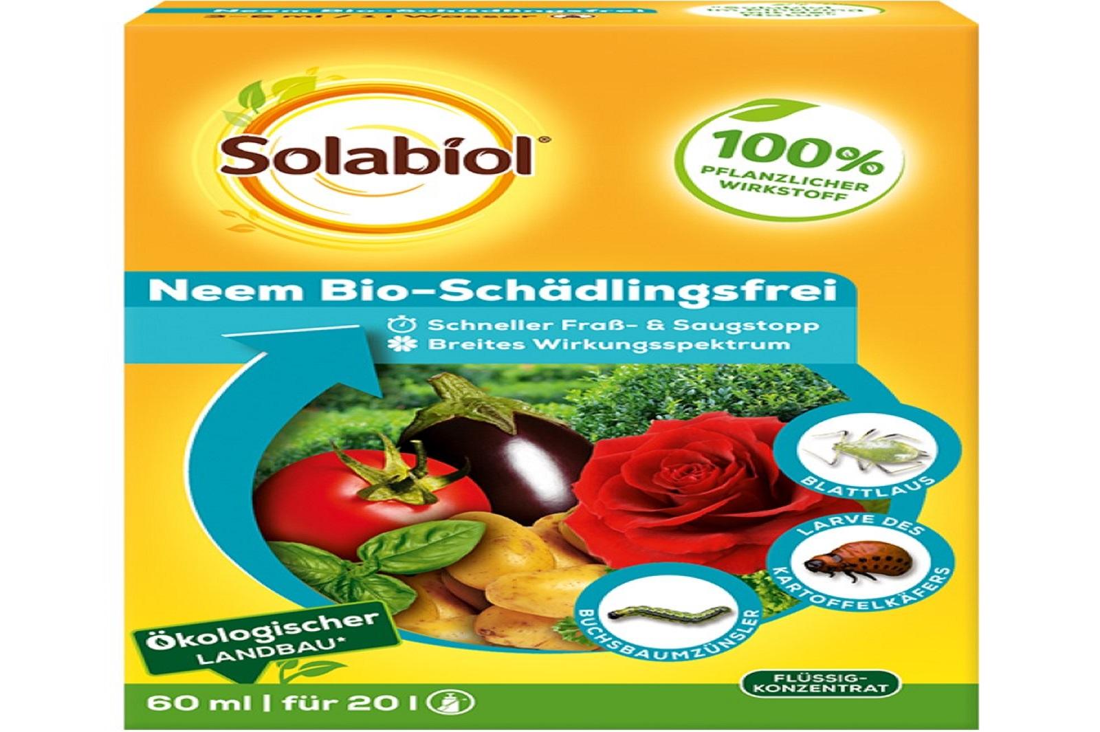 Solabiol Schädlingsfrei Neem Bio 60ml auch für den ökologischen Landbau