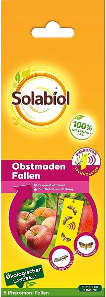 Bayer Solabiol Obstmaden Fallen 5 Stk Pheromonfallen mit Lockstoff und Gelbtafel