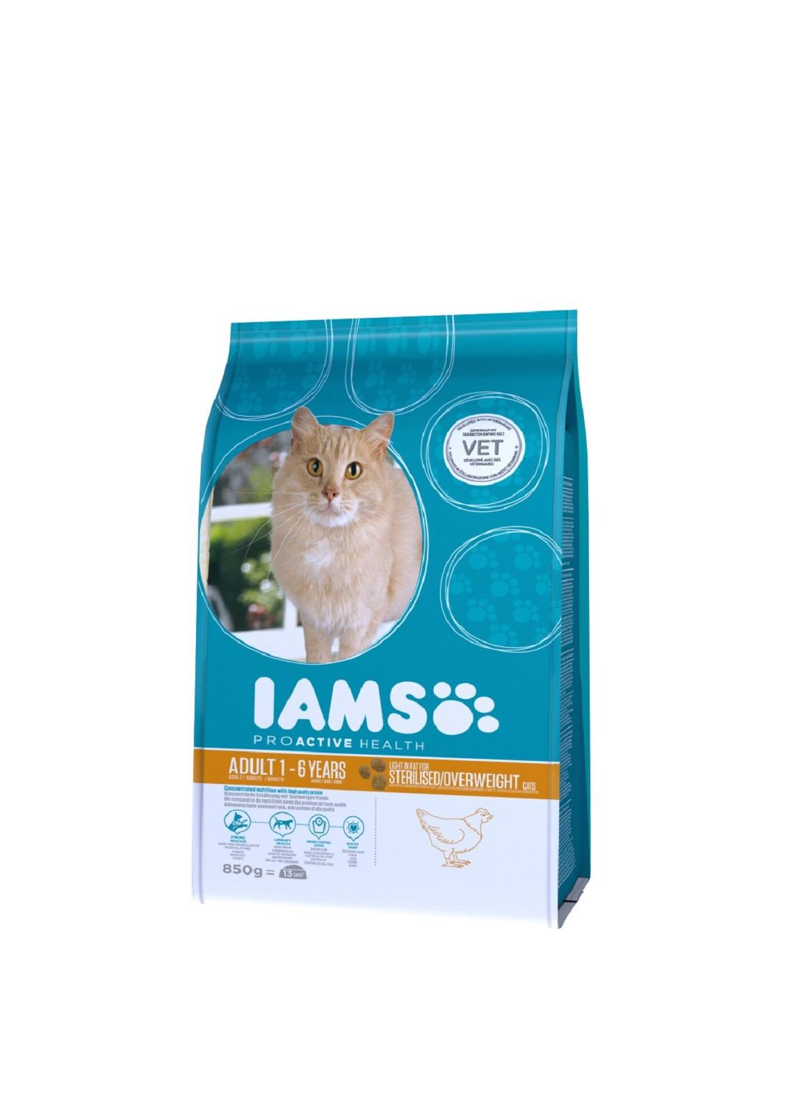 IAMS  Katzenfutter Erwachsen Weight Control fettarmes Trockenfutter Huhn 850 g