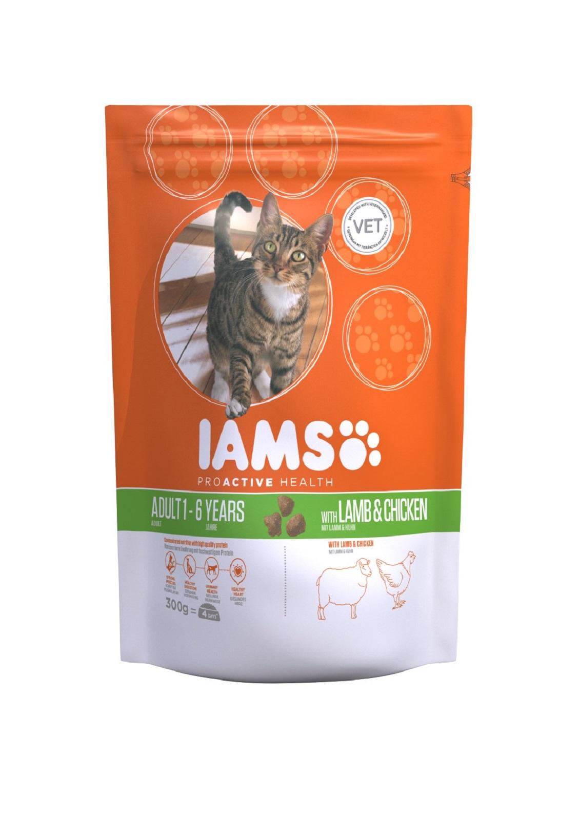 IAMS  Katzenfutter Erwachsen Trockenfutter mit Lamm 300 g