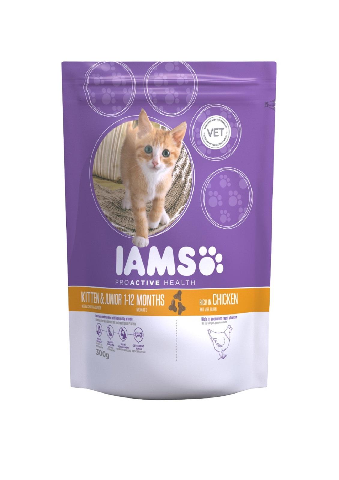 IAMS  Katzenfutter Erwachsen Trockenfutter Lachs mit Huhn 300 g