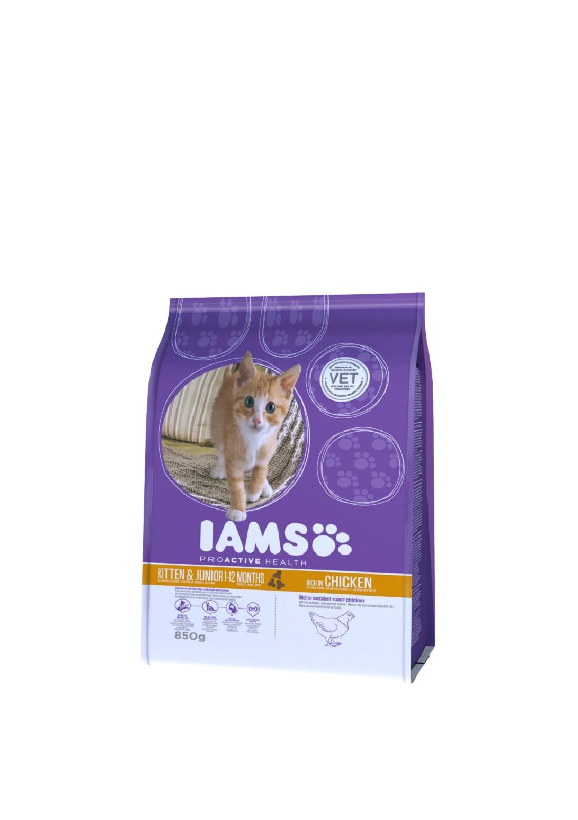 IAMS  Katzenfutter Junior Trockenfutter  Huhn & Pute  850 g