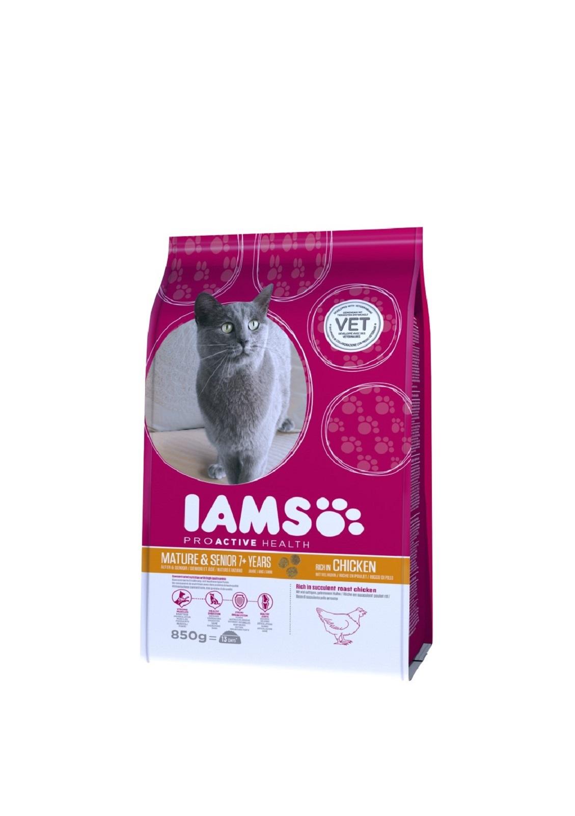 IAMS  Katzenfutter Multi Cat Erwachsen &. Senior Trockenfutter Huhn & Lach 800 g