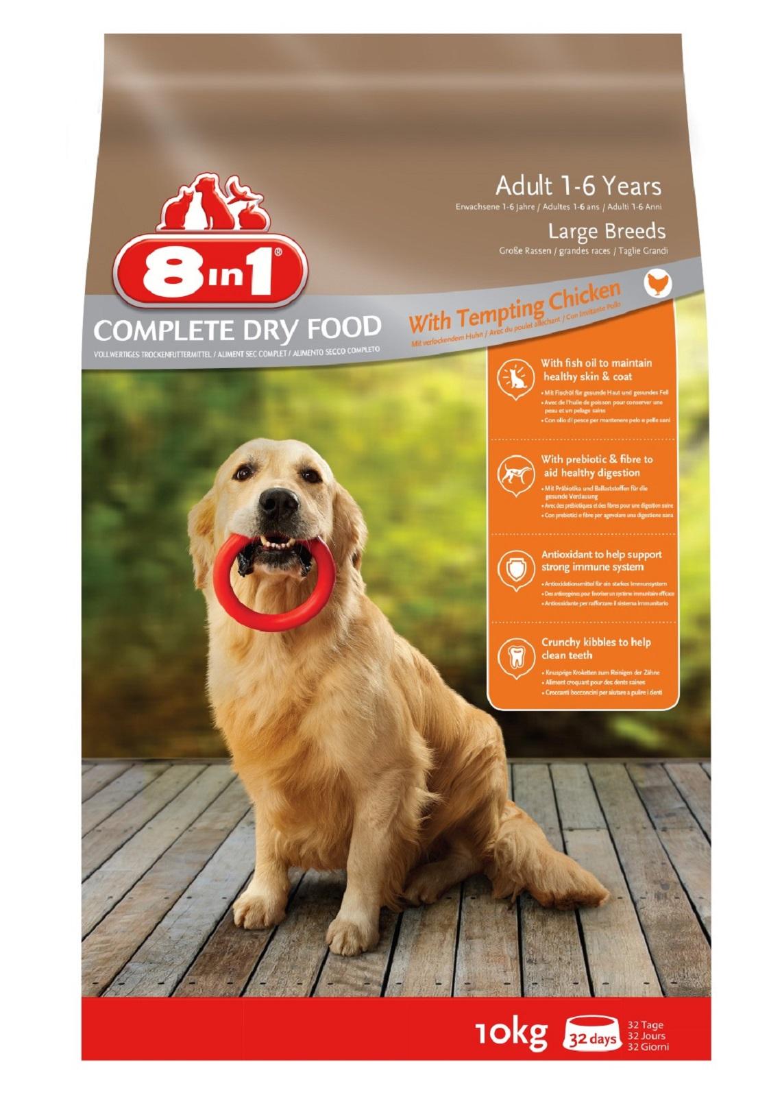 8in1 Hundefutter Hund Erwachsen Groß Trockenfutter  Huhn 10  kg