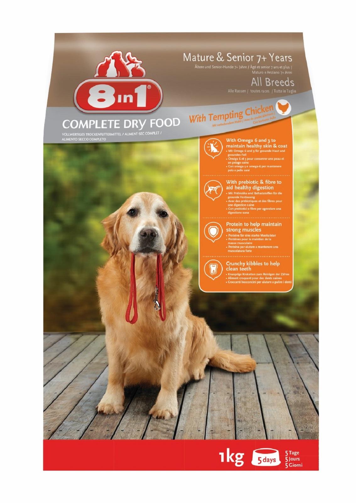 8in1 Hundefutter Trockenfutter  für  Hunde  Senior   Huhn 1 kg