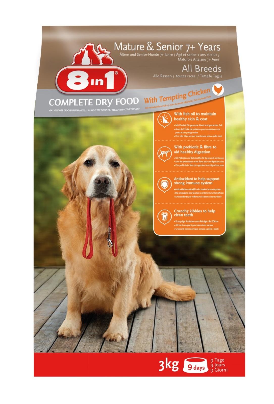 8in1 Hundefutter Hund Senior Trockenfutter  Huhn 3  kg