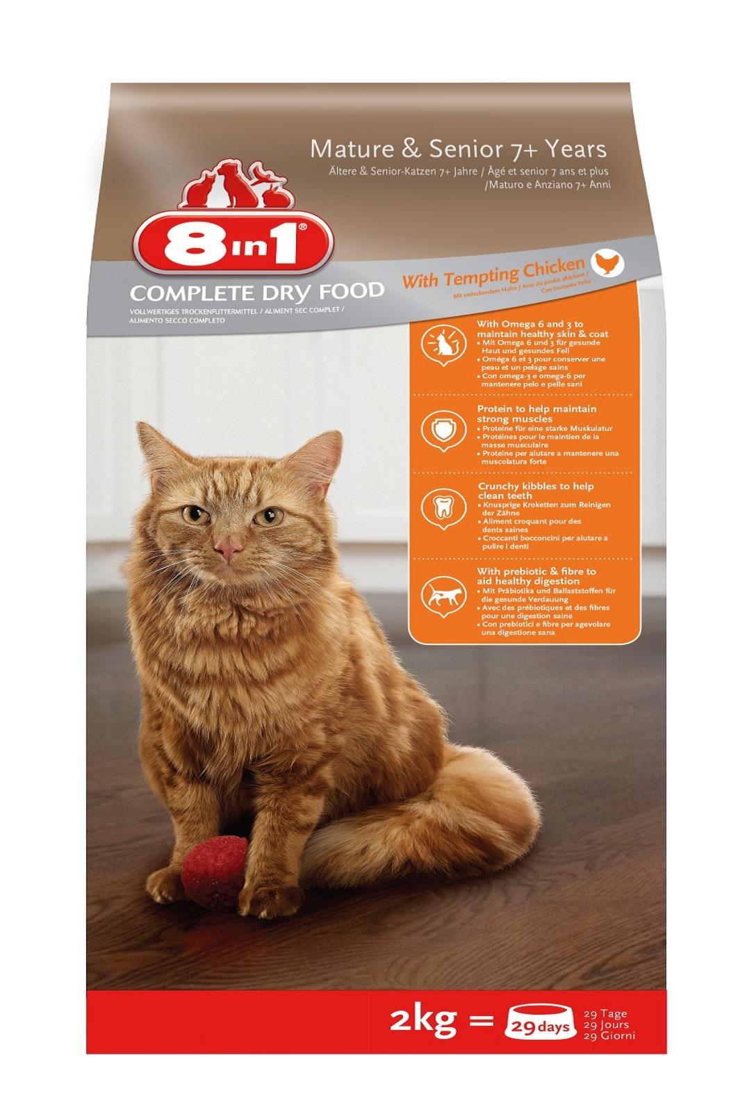8in1 Katze Senior Trockenfutter  Huhn  2  kg