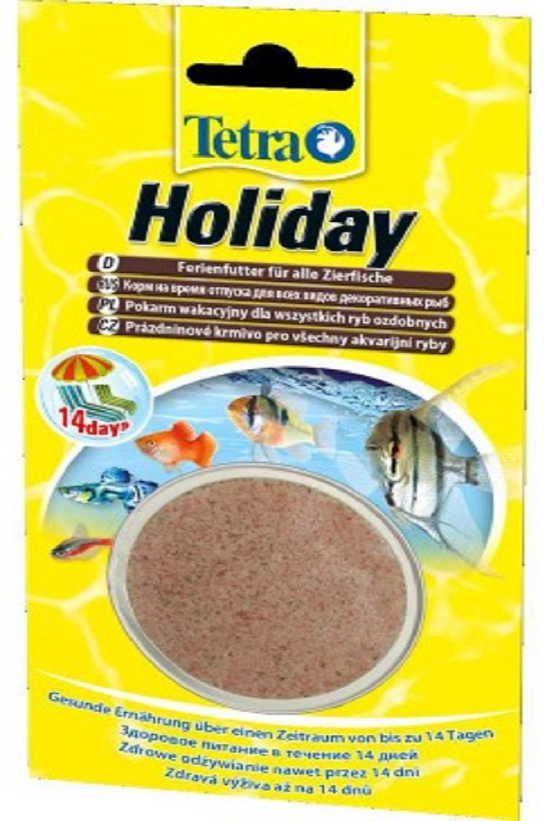 Tetra Holiday Fischfutter Futterblock 30 g  für Zierfische bis 14 Tage