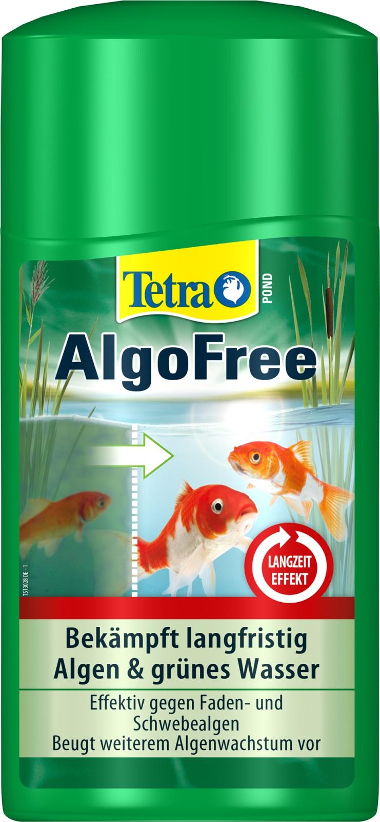 Tetra Pond AlgoFree Algenmittel gegen Schwebealgen und grünes Wasser 1 Liter
