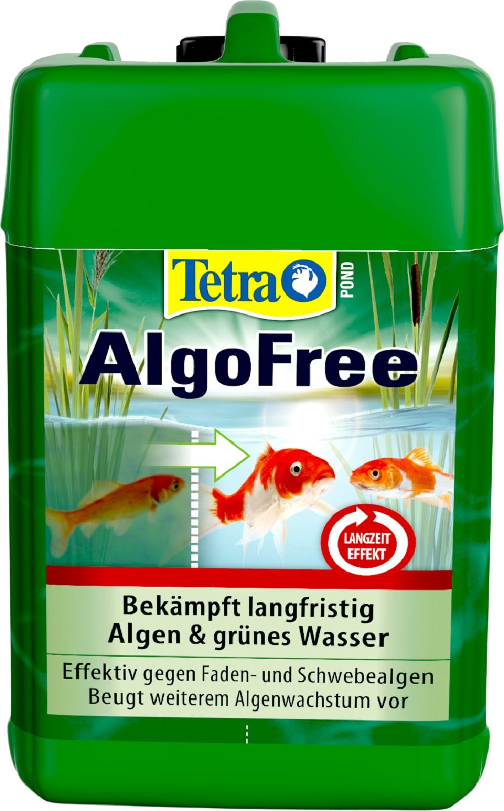 Tetra Pond AlgoFree Algenmittel gegen Schwebealgen und grünes Wasser  3 Liter