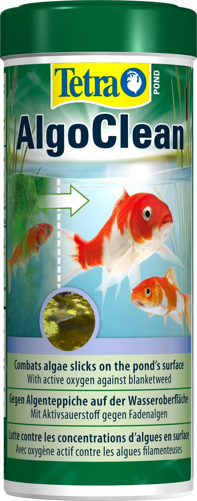 Tetra Pond Algo Clean 300 ml  gegen Algenteppich auf Wasseroberfläche.Teich