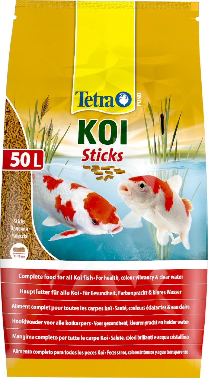 Tetra Pond  Koi Sticks Fischfutter Hauptfutter 50 Liter