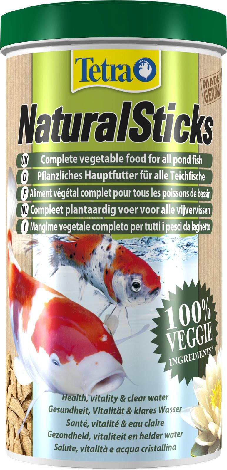 Tetra Natural Sticks pflanzliches Hauptfutter für Teichfische 1 Liter