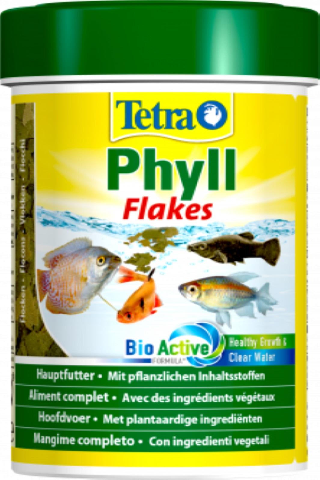 Tetra Phyll 250 ml Flockenfutter für Zierfische