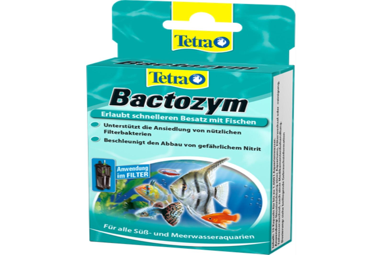 Tetra  Bactozym 10 Kapseln Bioaktivität in Filter und Aquarium Wasserpflege