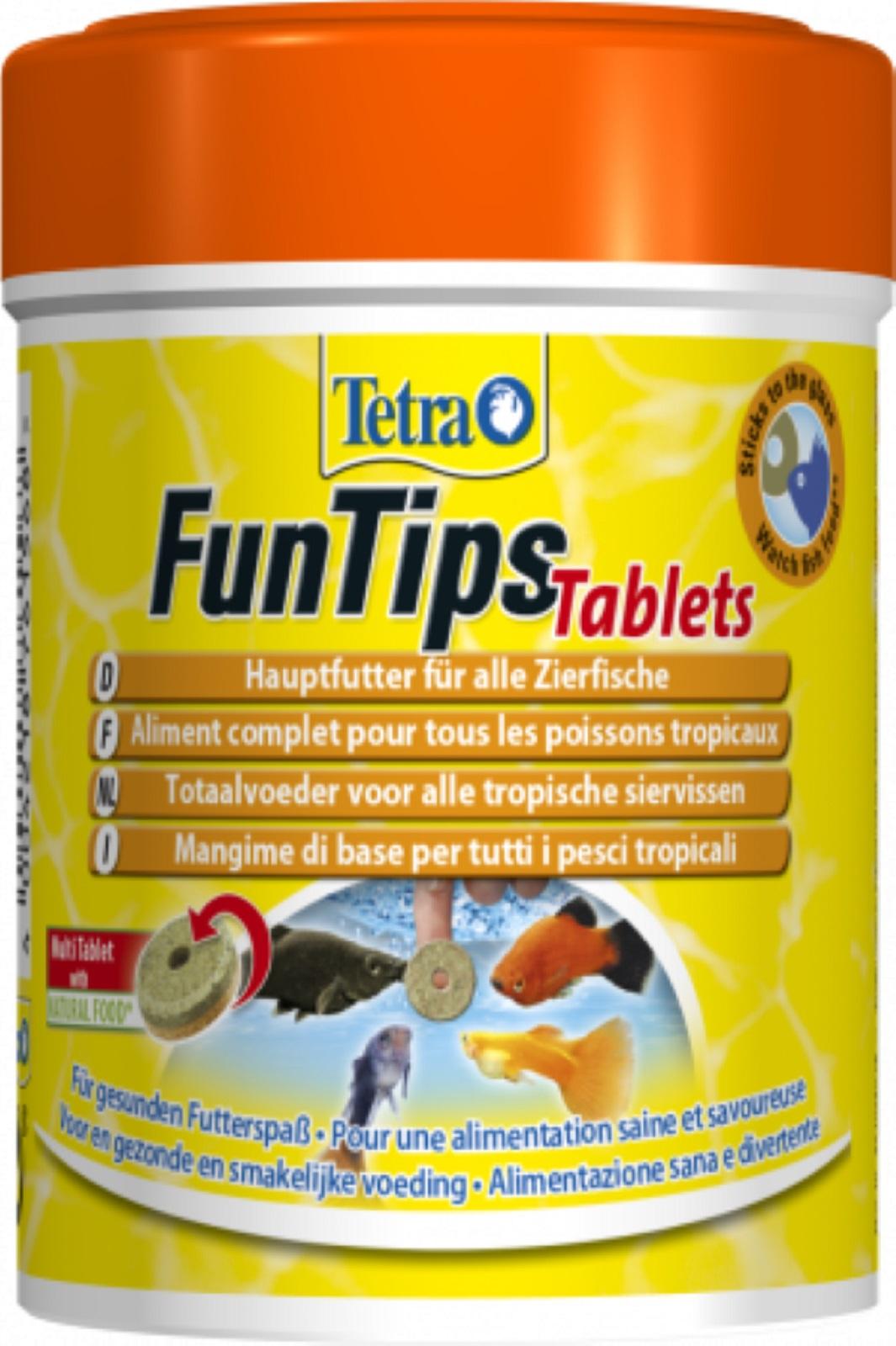 Tetra FunTips Tablets 165 Tabletten Haft Futtertablette z. beobachten der Fische