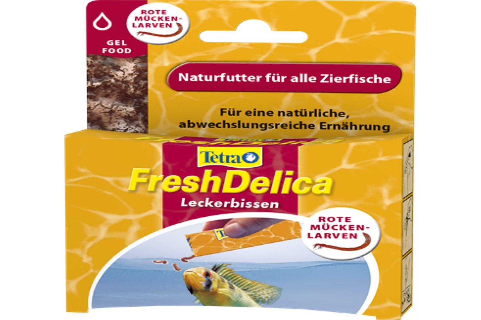 Tetra Fresh Delicia Mückenlaven 48 g Fischfutter für Zierfische
