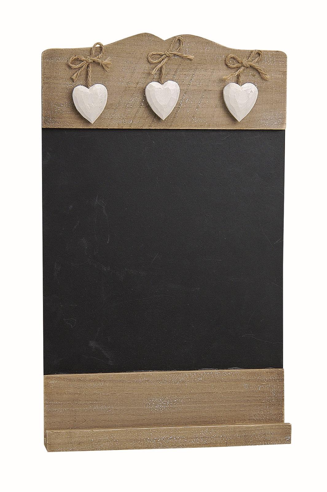 Memo Tafel zum hängen mit 3 Herzen