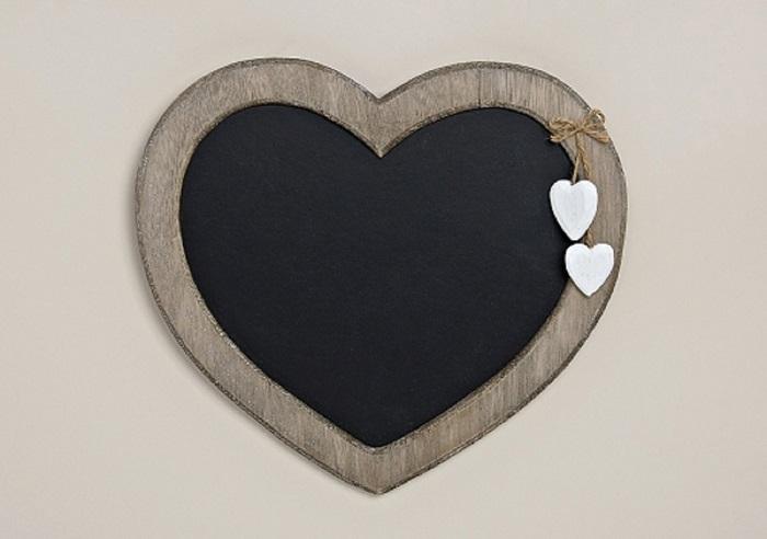 Memotafel aus Holz Herzform Herzmemotafel